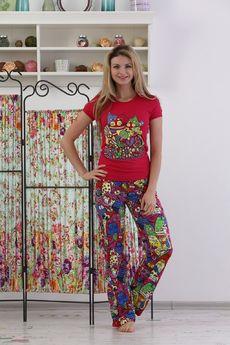Комплект домашний: футболка и брюки на резинке FIORITA