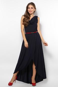 Темно-синее вечернее платье Mondigo