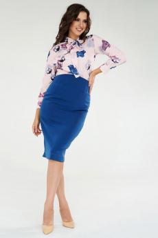 Синяя юбка с завышенной талией Paola Rossi