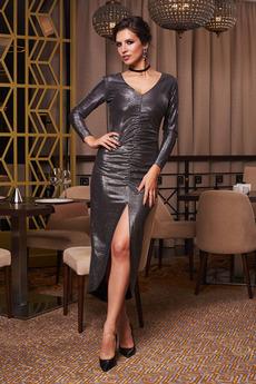 Длинное блестящее платье Angela Ricci
